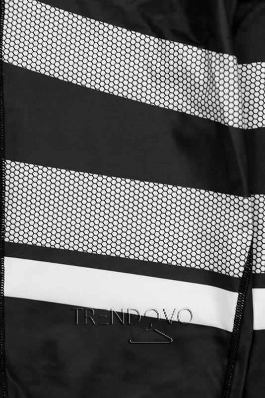 Černobílé vzorované legíny - Dámské oblečení e95029ed0a