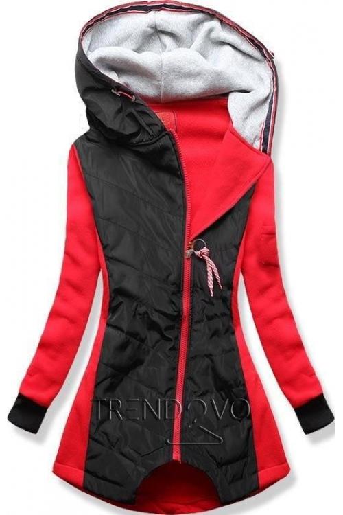 -26% Červeno-černá mikina bunda 0eaa9e3024a