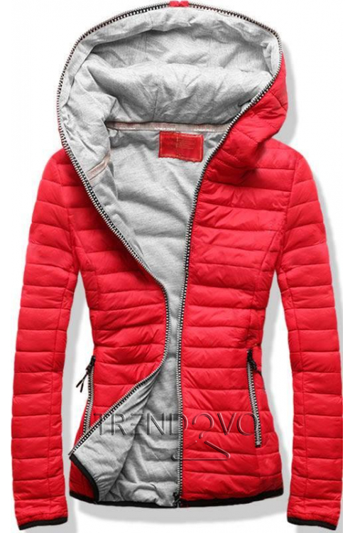 38559 8192A Šedý zimní kabát s plyšovou podšívkou pohodlný a ... c319d90bff