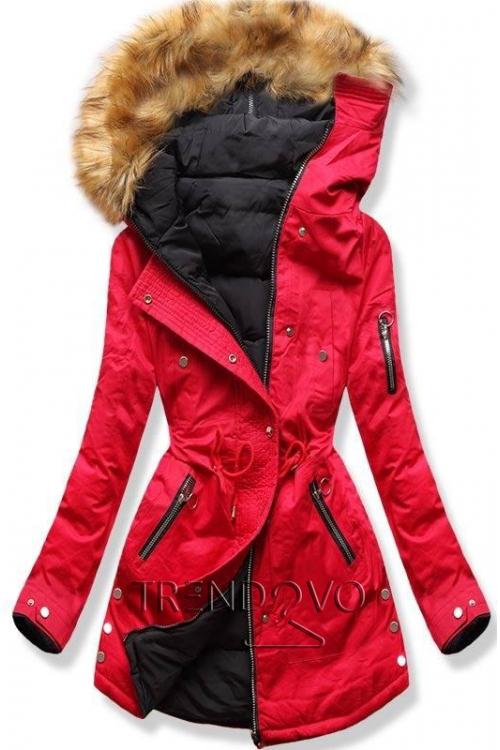 8876d51d4fe9 Oboustranná bunda červená černá