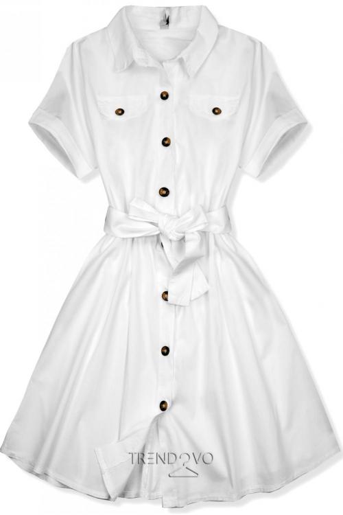 Bílé krátké košilové šaty