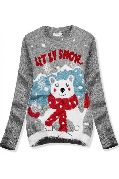 a5a3c3385ee Červený svetr Merry Christmas. -19% Šedý svetr LET IT SNOW