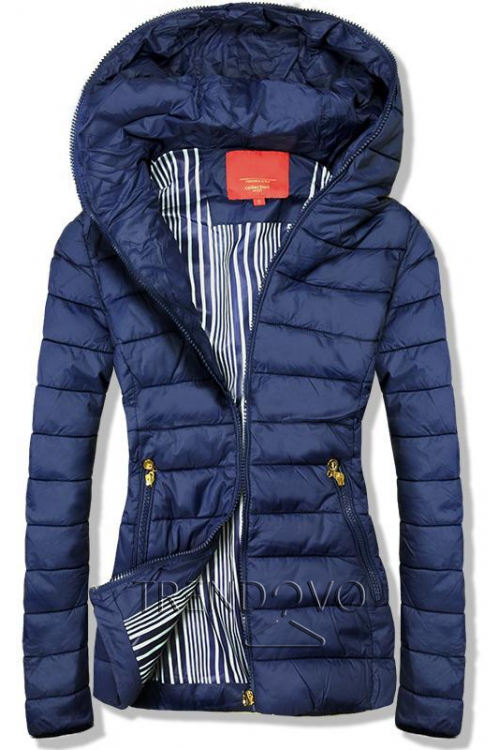 28f1101c2f98 -48% Tmavě modrá bunda s kapucí