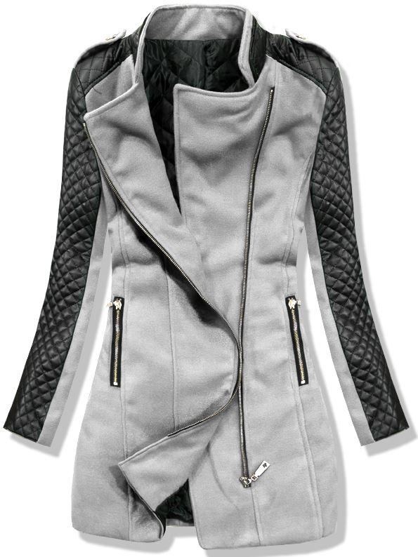 Šedý kabát 12019