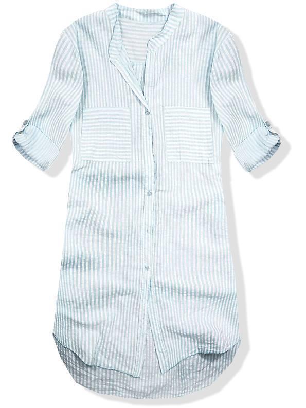 Světle modrá prodloužená košile 1665