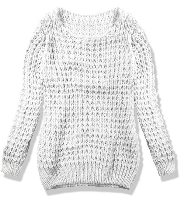 Bílý pletený svetr LANA