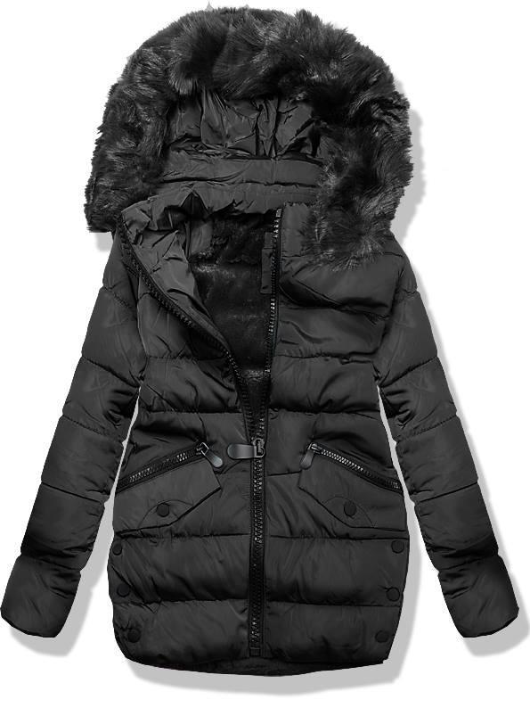 Černá zimní bunda 3570B