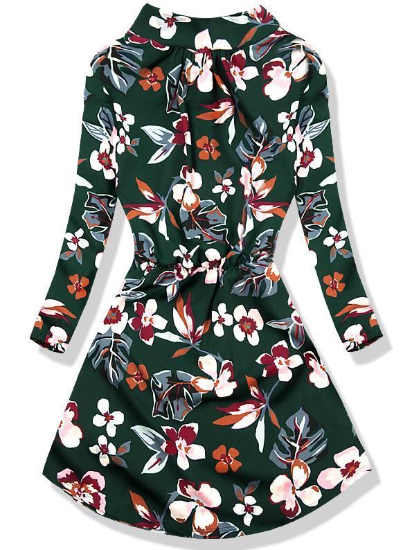 Zelené květinové šaty