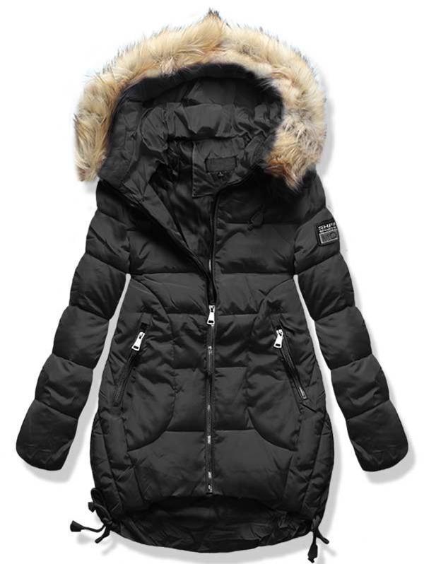 Černá zimní bunda A759