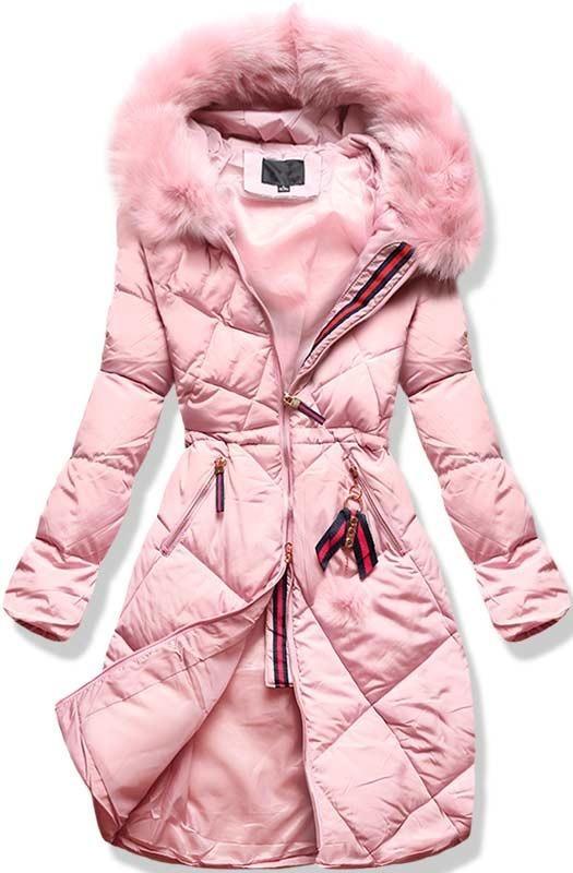 Růžová zimní bunda L928