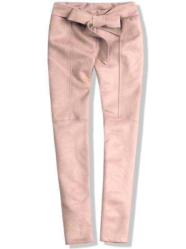 Růžové kalhoty se zavazováním
